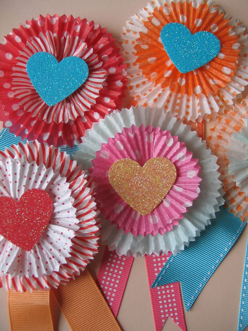 VDay Cupcake Liner Card Craft