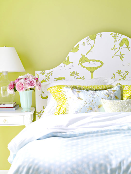 Wallpaper Headboard DIY Ideas.com