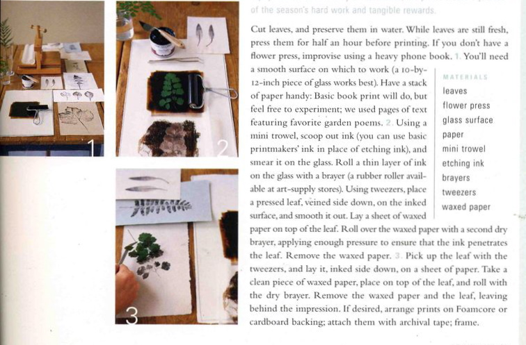 Leaf Print Directions