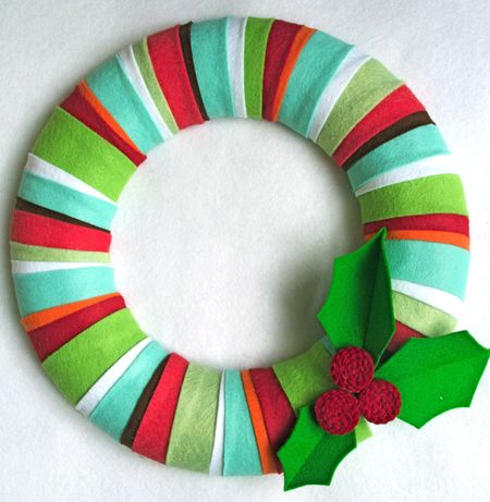 Striped Wreath