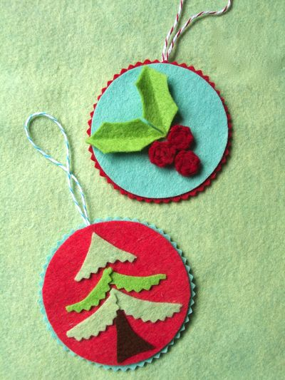Holly and Tree Ornaments_2