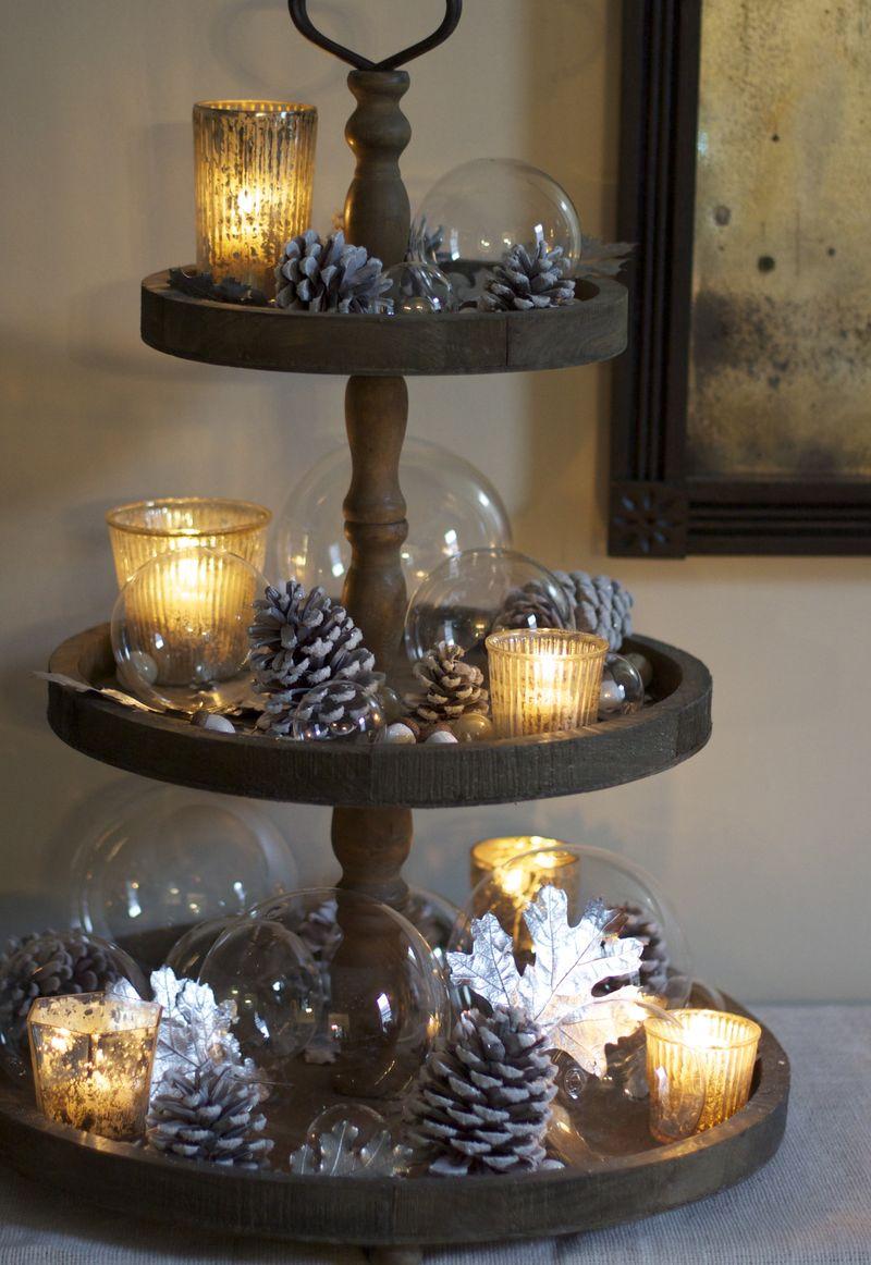 Candle display 2 - Etagere weihnachtlich dekorieren ...