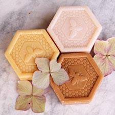 Honey soaps hexagon