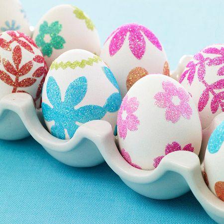 Glitter egg closeup