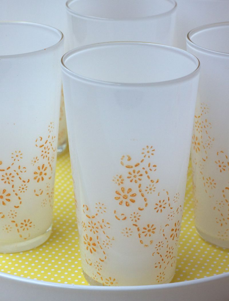 Stenciled Glasses 2