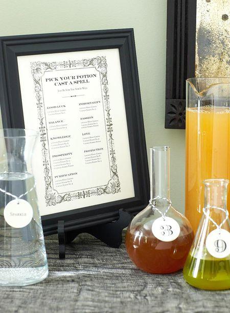 DIY Potion Bar Menu (Photographer: Brie Williams)