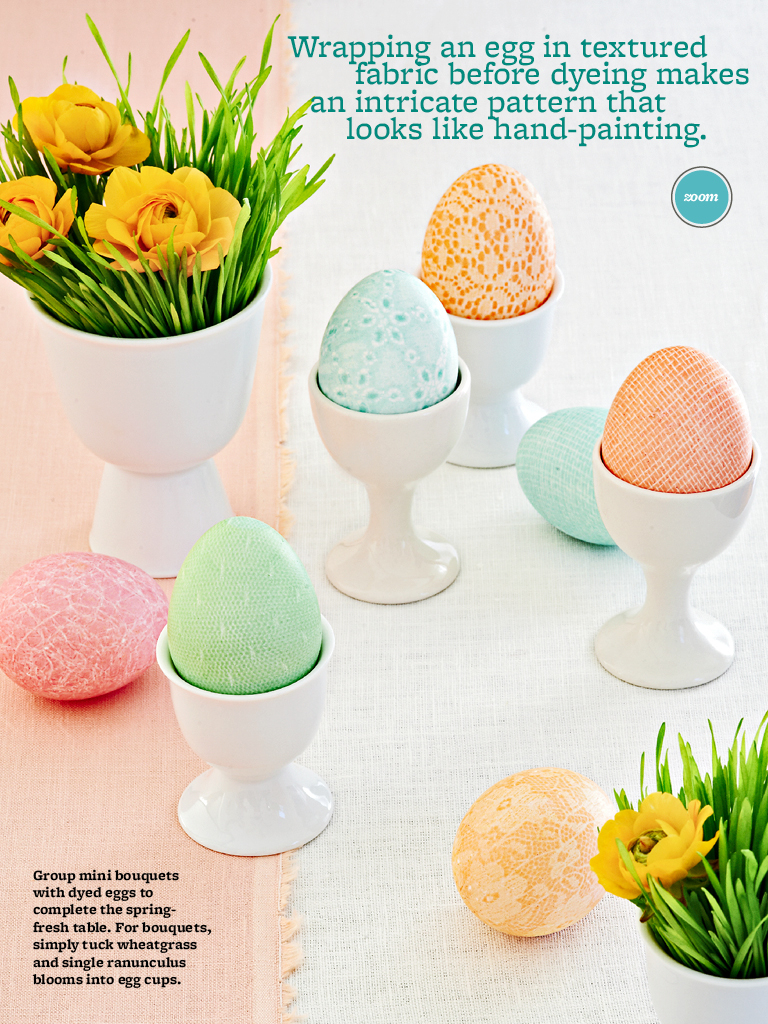 Patterned Eggs Better Homes and Gardens March 2013 | Photo by Brie Williams