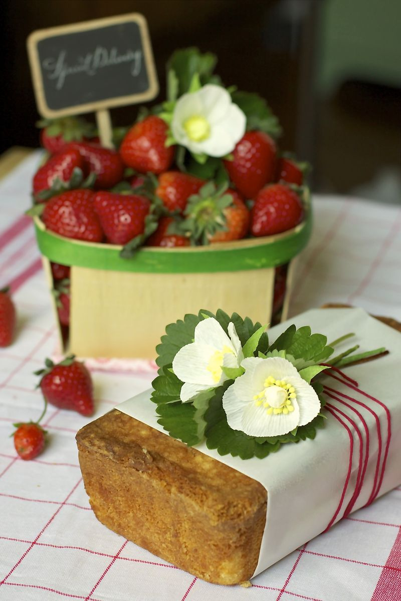 Strawberries and Pound Cake