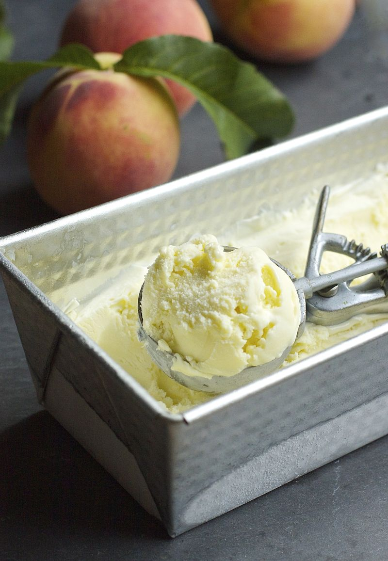 Peach Leaf Ice Cream | Urban Comfort