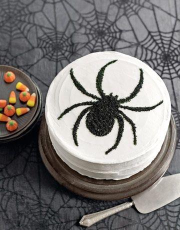 Spider Stenciled Cake