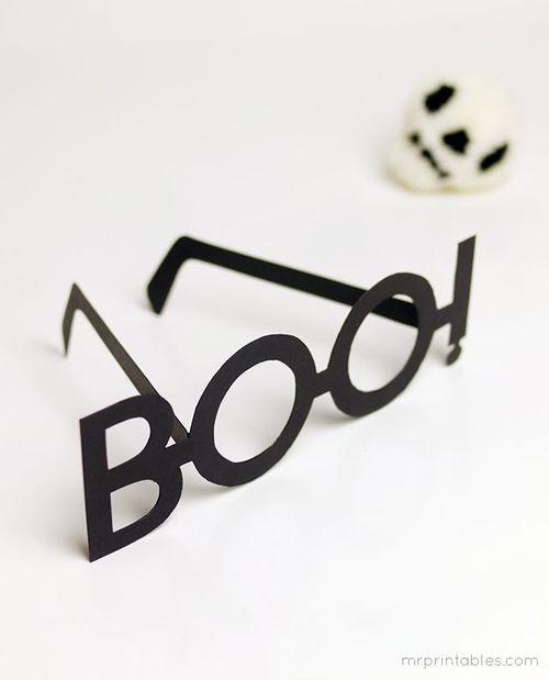 Boo Typography Glasses