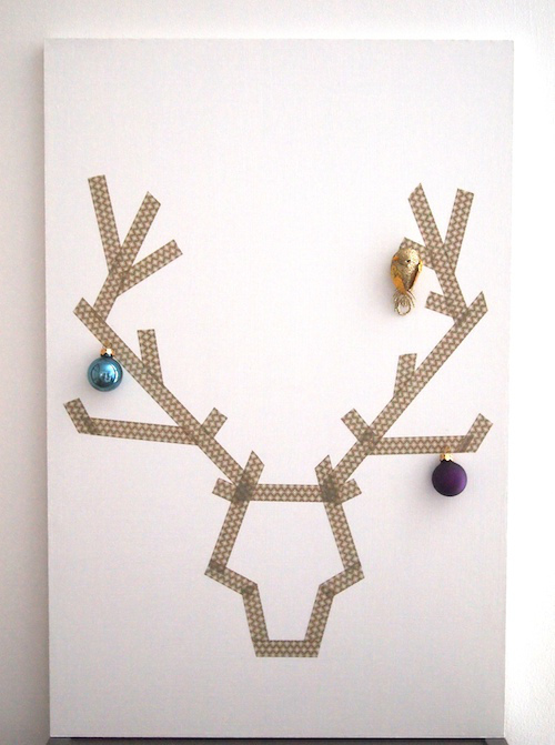 Washi tape reindeer from First Sense