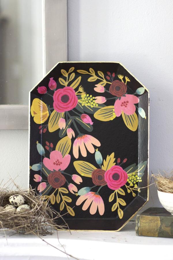 DIY Floral Tray | Urban Comfort