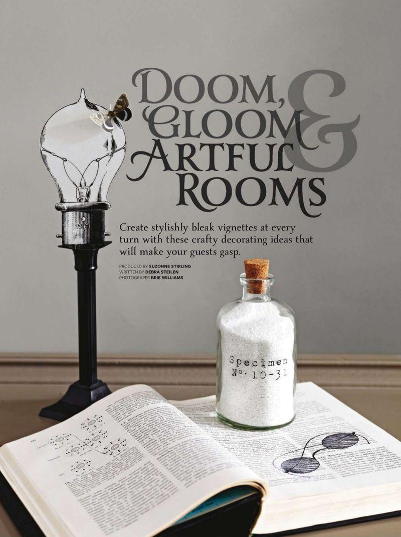Rub-on Designs for Halloween | Doom & Gloom for BHG Tricks and Treats 2014 | Urban Comfort
