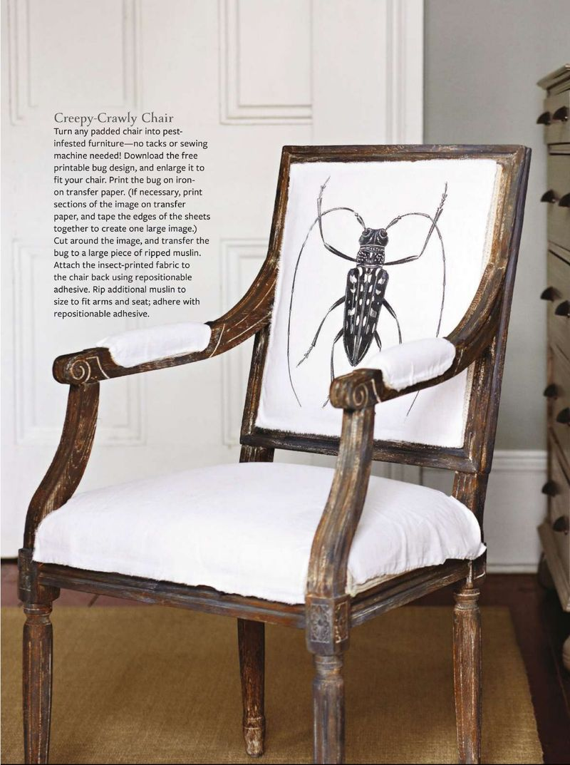 Temporary Halloween Upholstery | Doom and Gloom for BHG Halloween Tricks and Treats | Urban Comfort